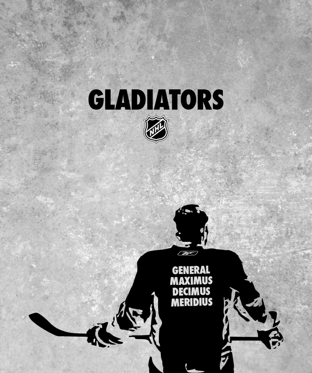 ice hockey advertising idea - modern day gladiators