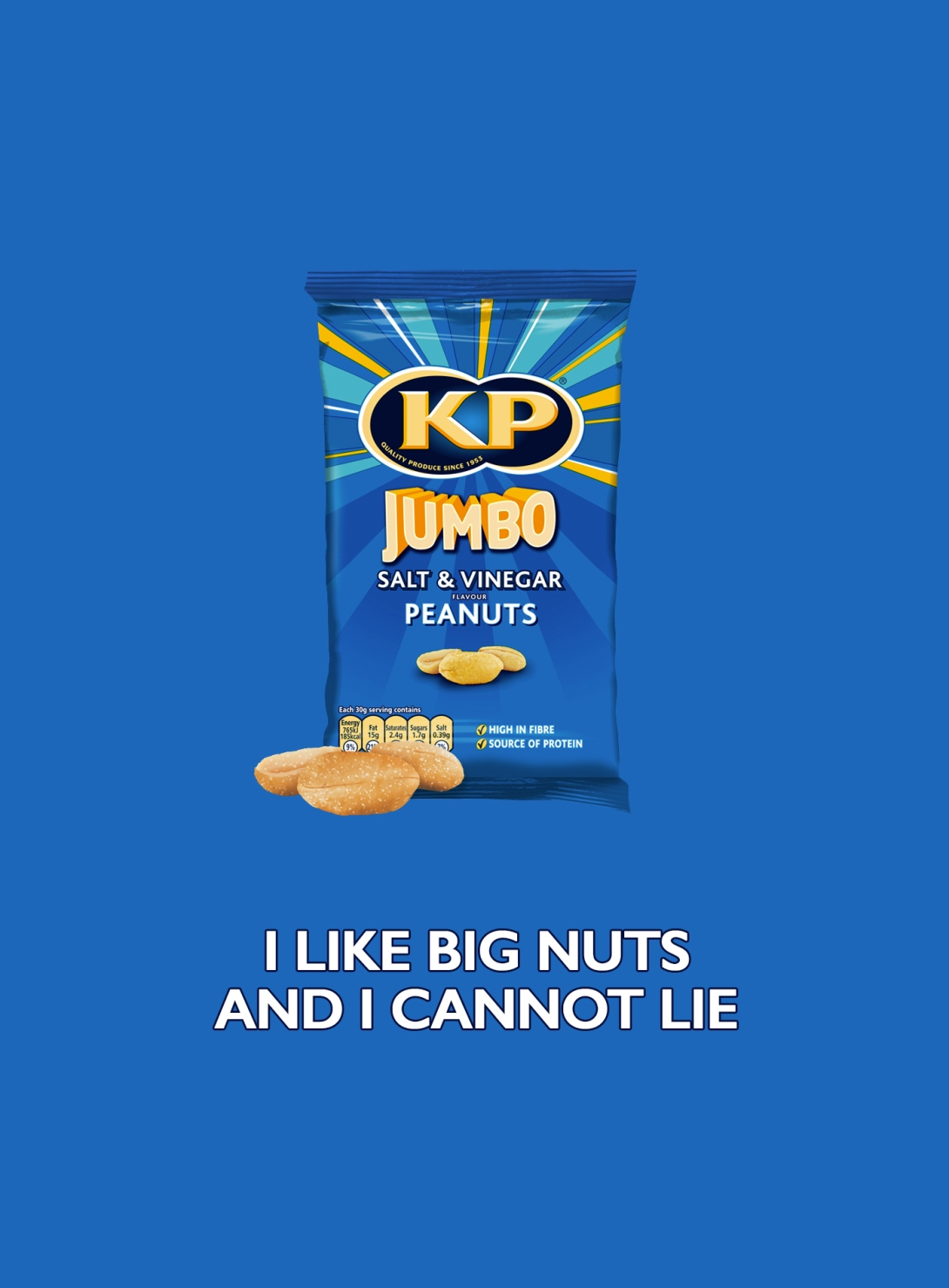 Quick advertising idea for a jumbo peanuts brand - i like big nuts