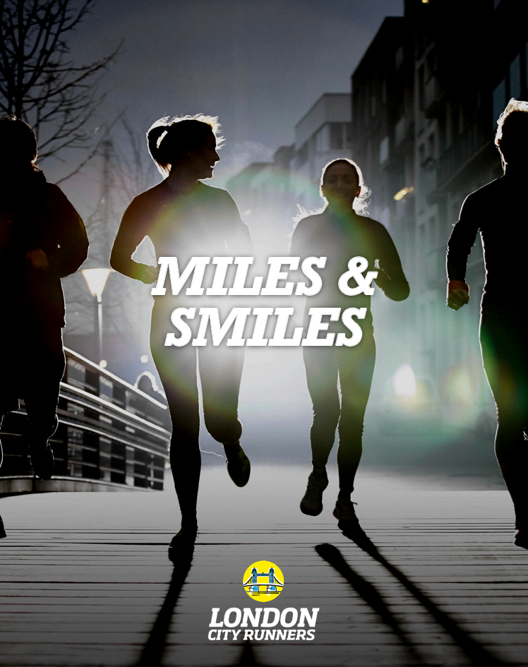 advertising concept for a city running club - miles & smiles