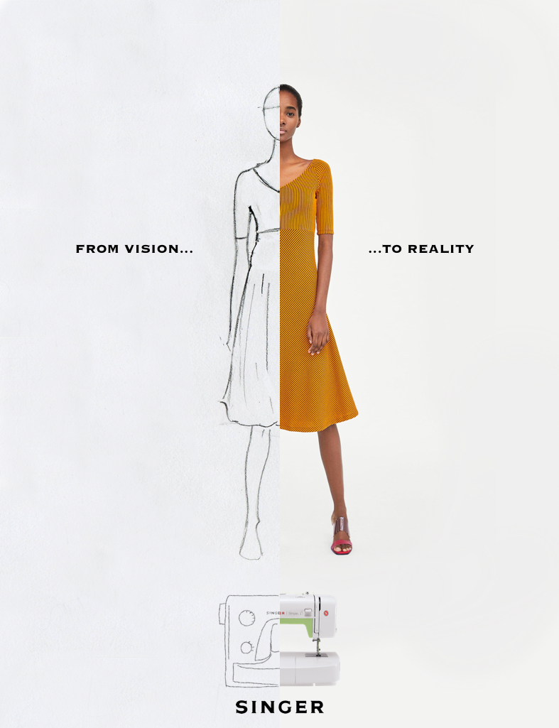 Advertising concept for a sewing machine brand - from vision to reality