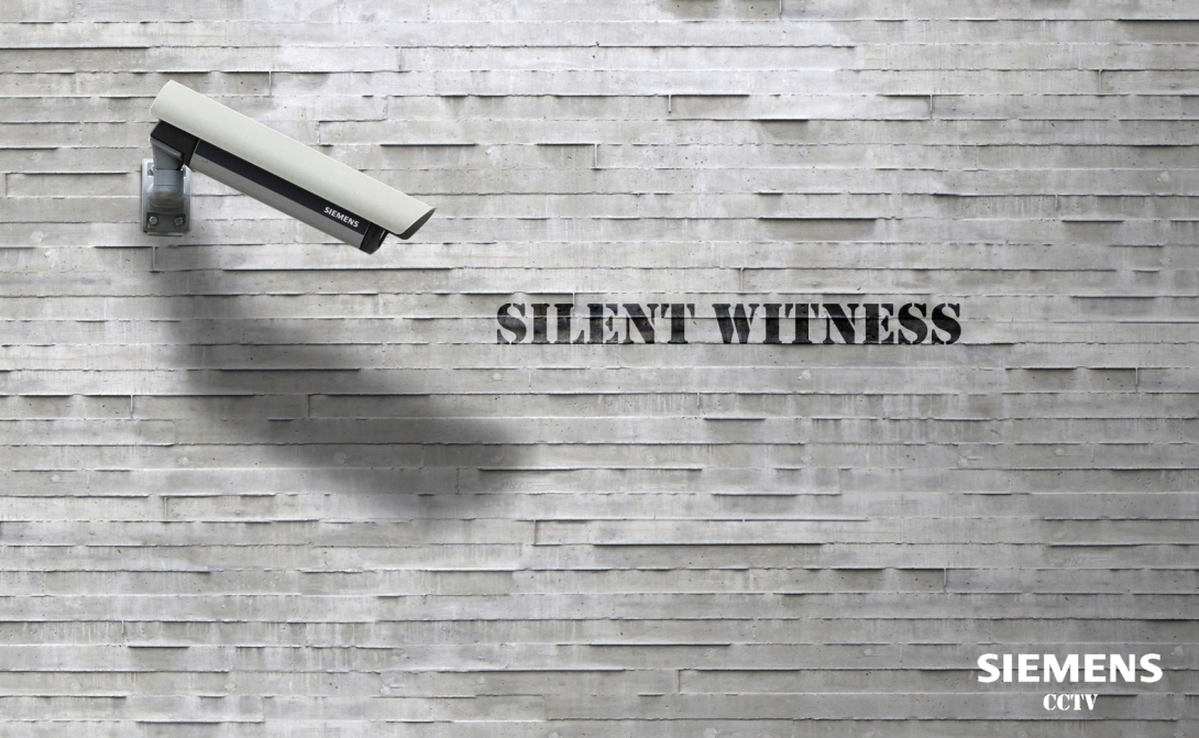 advertising concept for a CCTV brand - silent witness