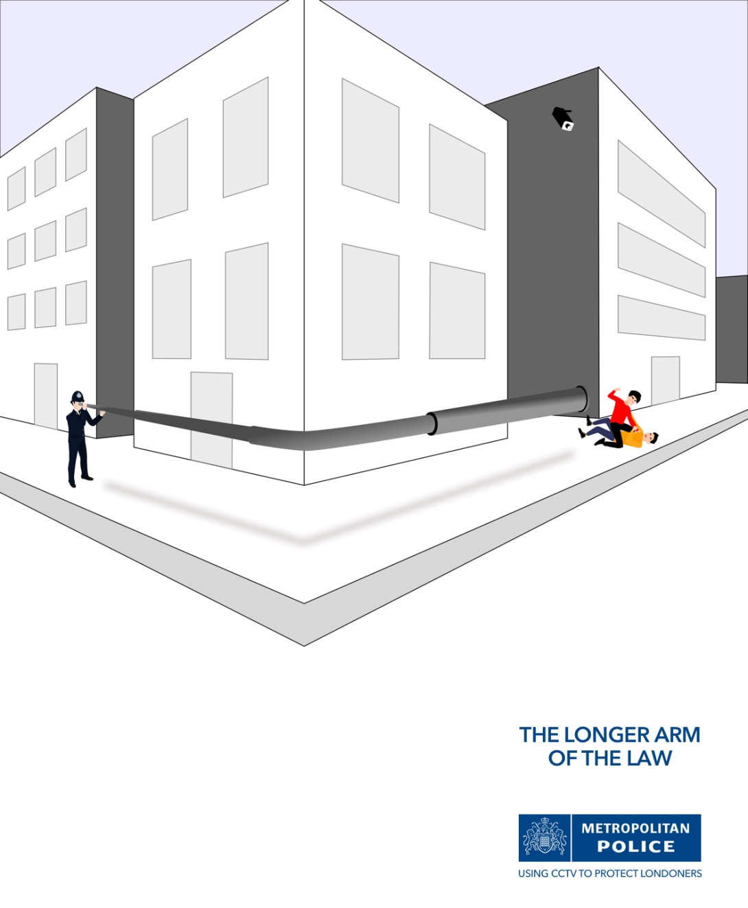 advertising idea for the London Metropolitan Police - CCTV - the longer arm of the law