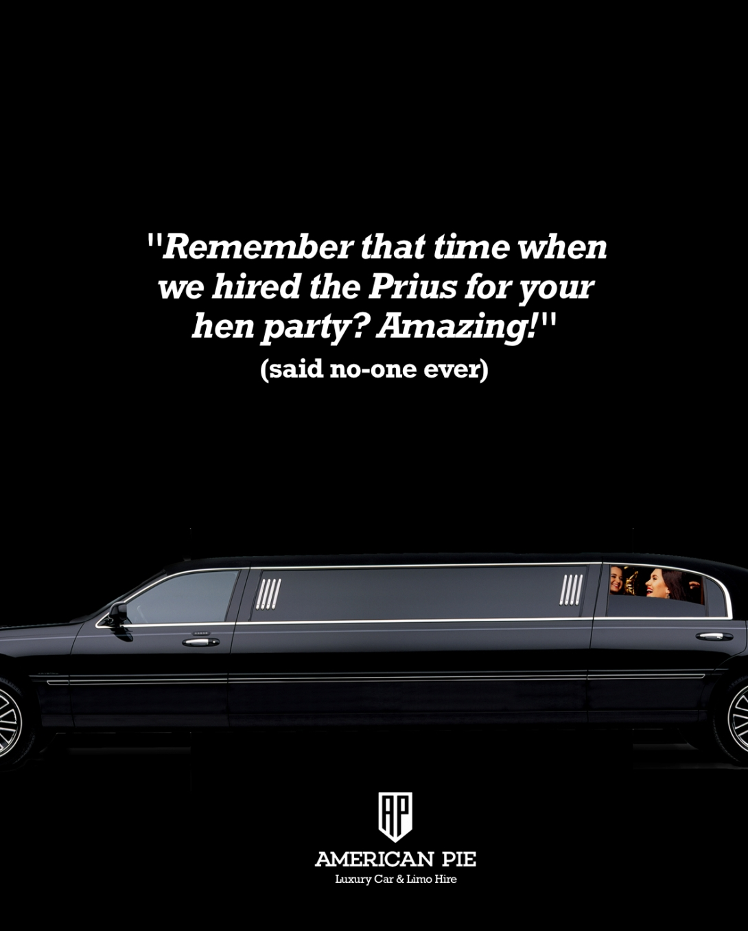 advertising concept for a limousine hire brand - best car for special occasions