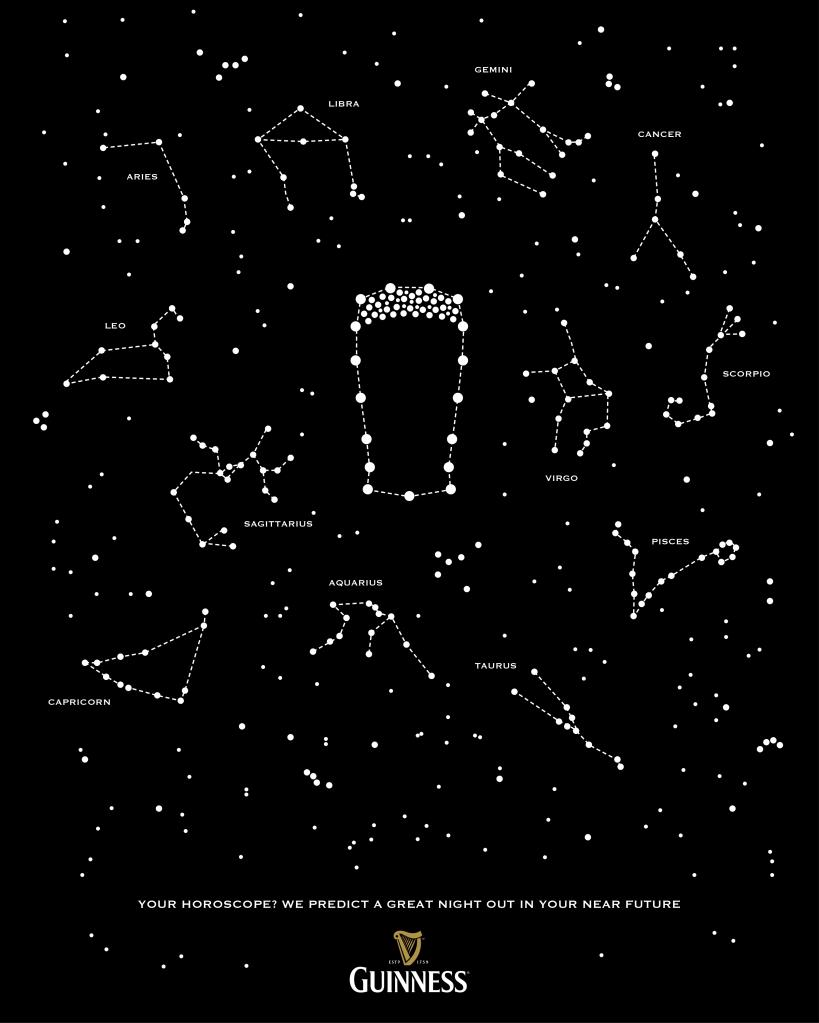 advertising concept for Guinness - horoscope