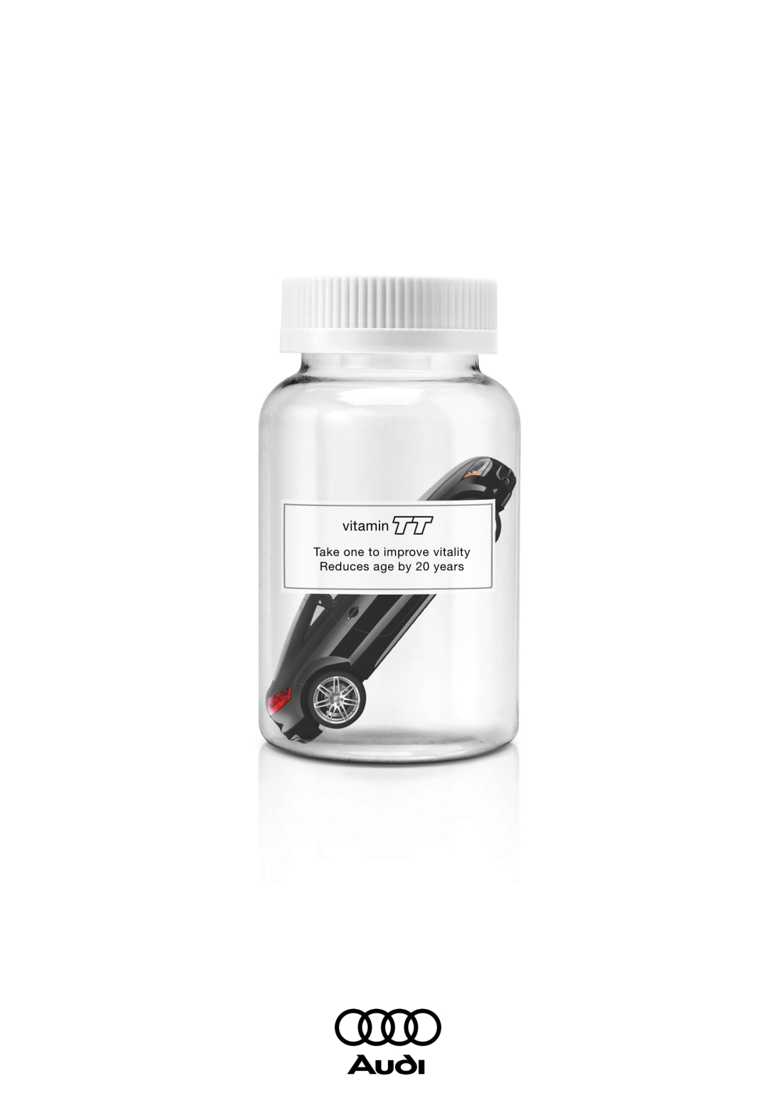 advertising concept for Audi - vitamin TT - take one to improve vitality