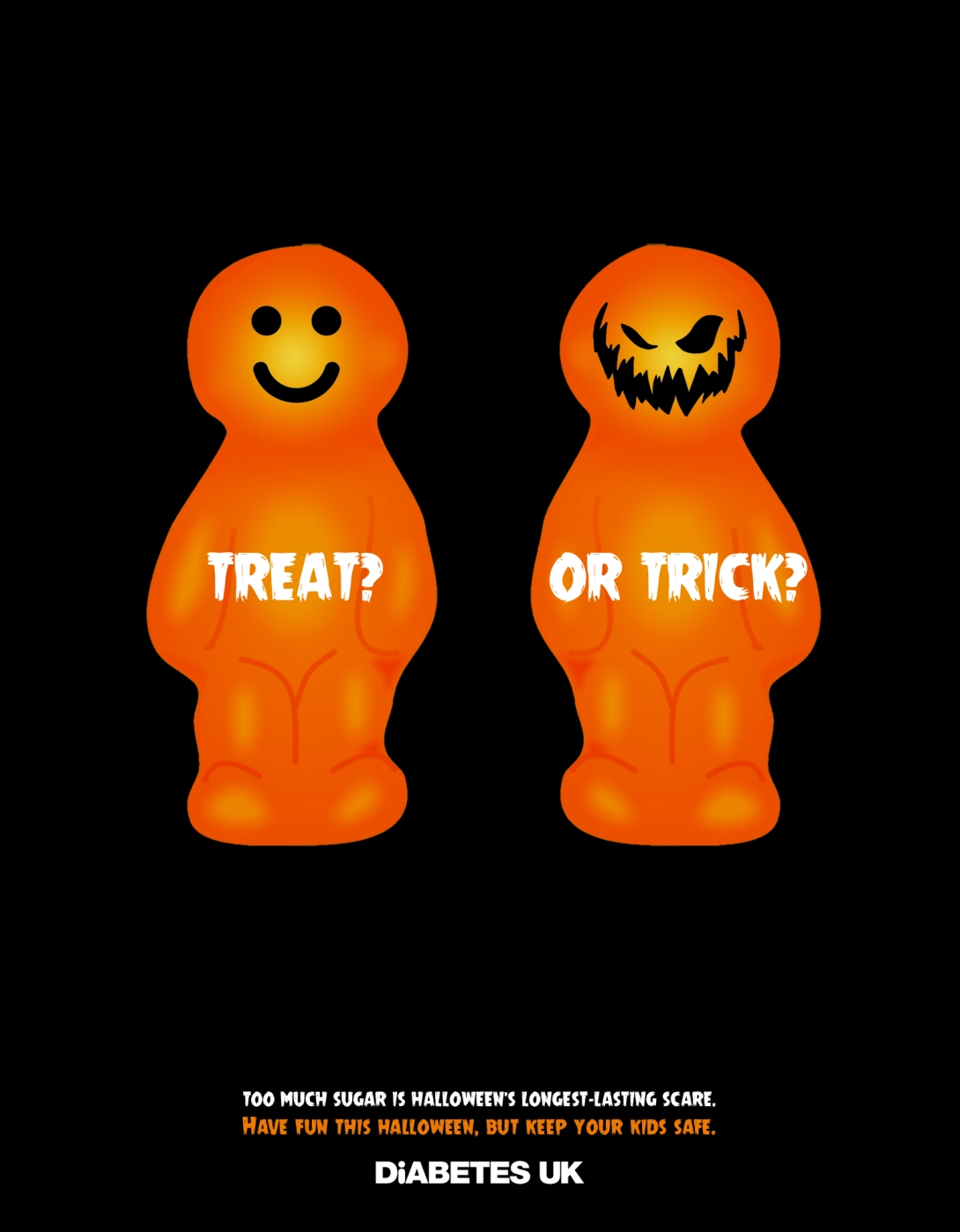 Halloween advertising idea for a diabetes charity