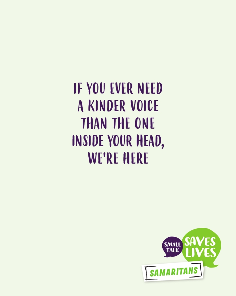 Advertising idea for World Mental Health Day - a kinder voice