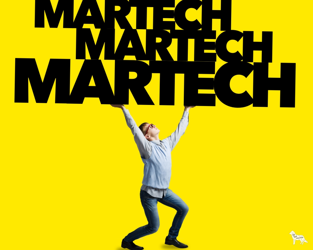 a B2B marketing blog post about achieving the right balance with investment in marketing technology (known as martech)