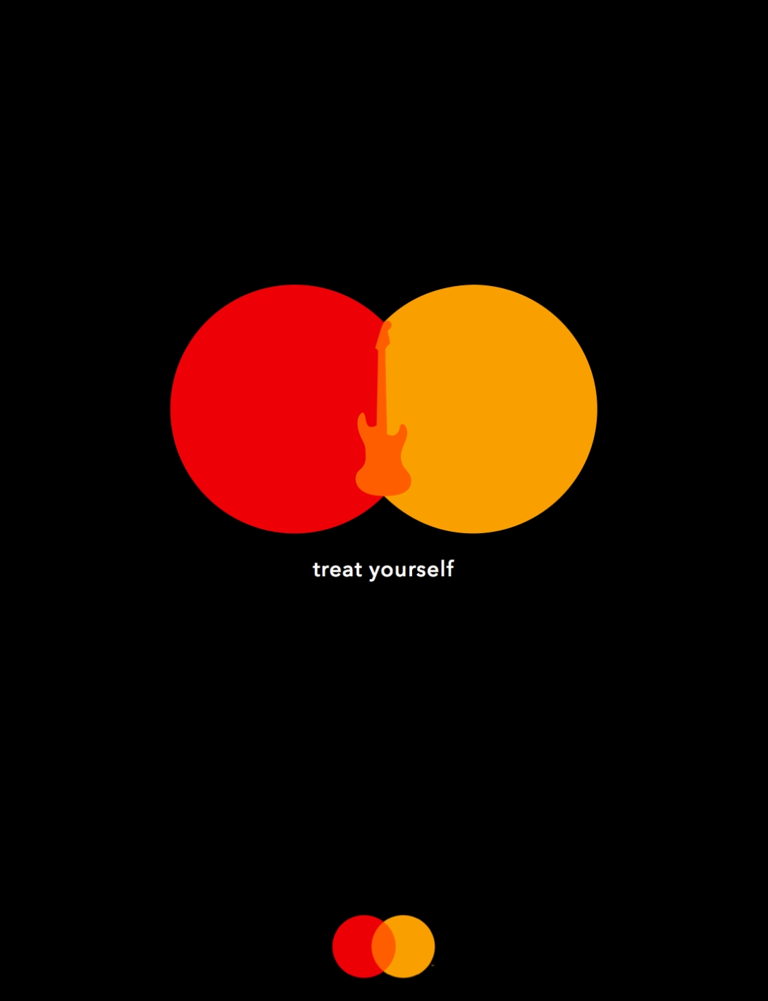 advertising idea for mastercard - treat yourself - guitar