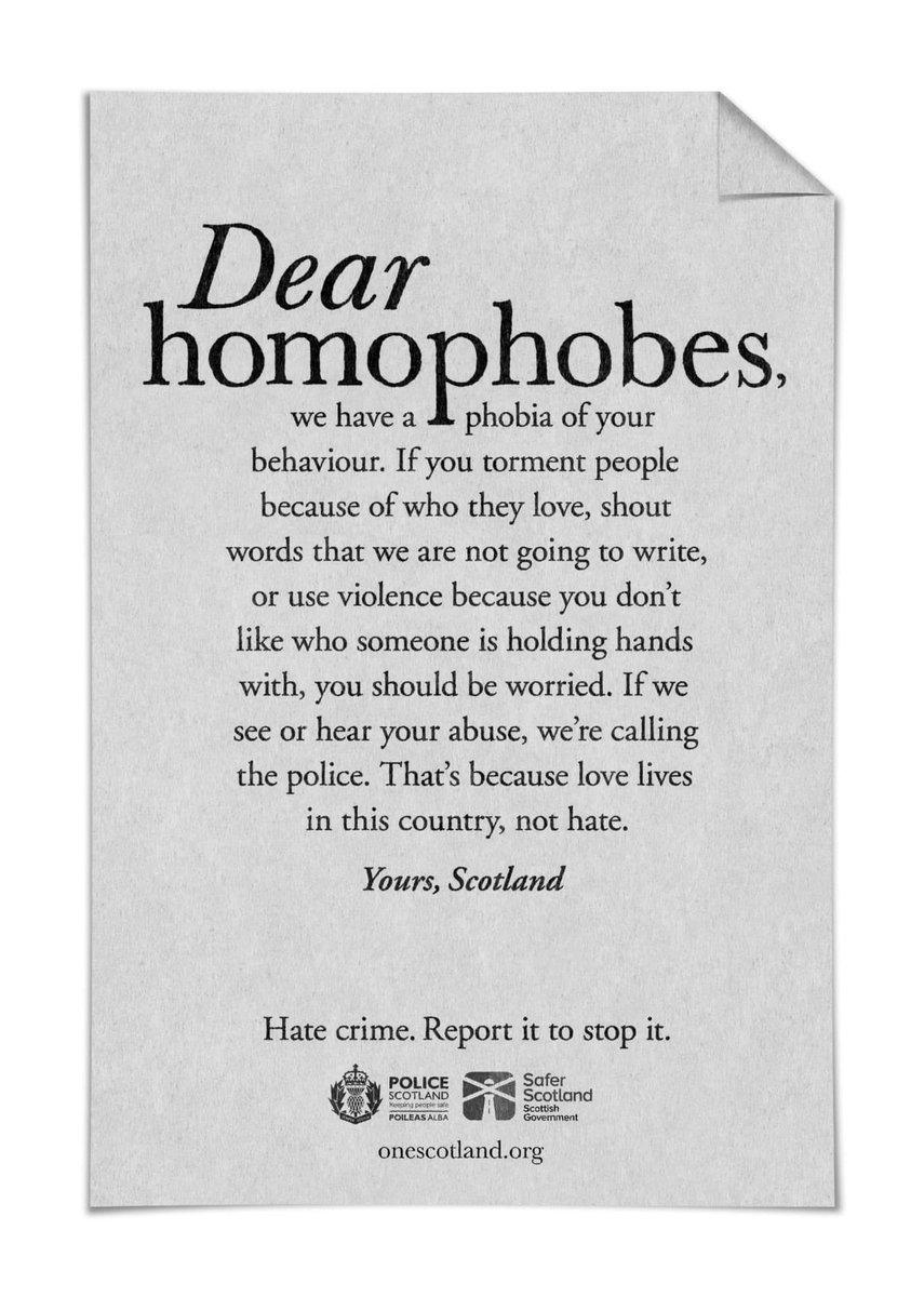 dear homophobes