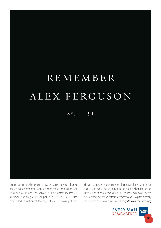 british legion alex ferguson print ad