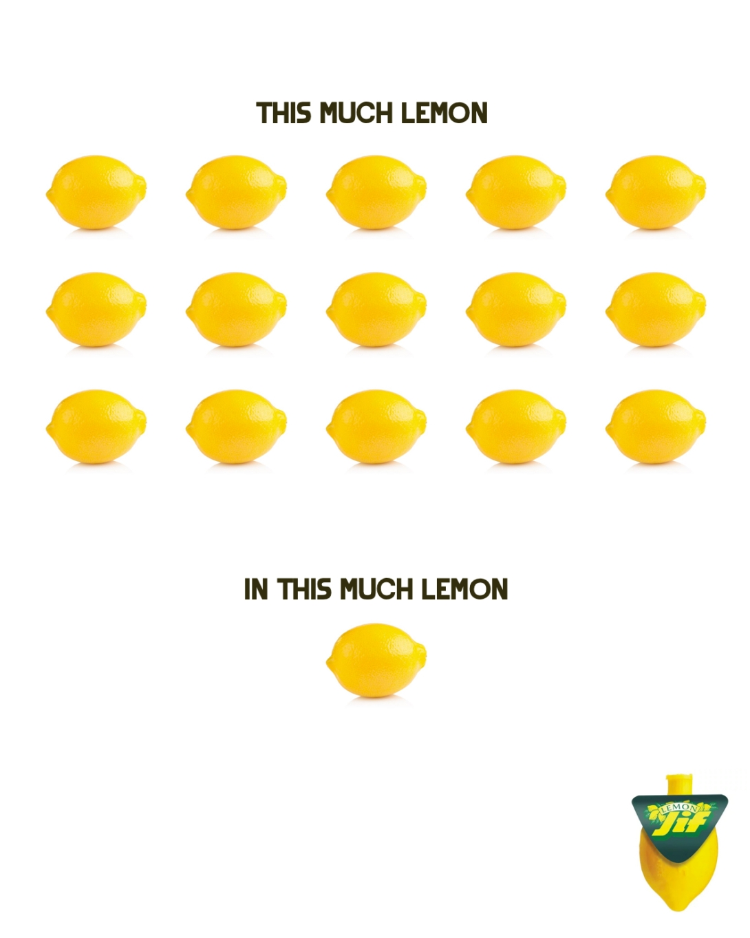 Quick print ad idea for Lemon JIF