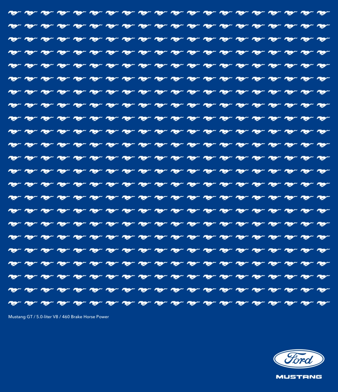 rough print ad idea for the Ford Mustang