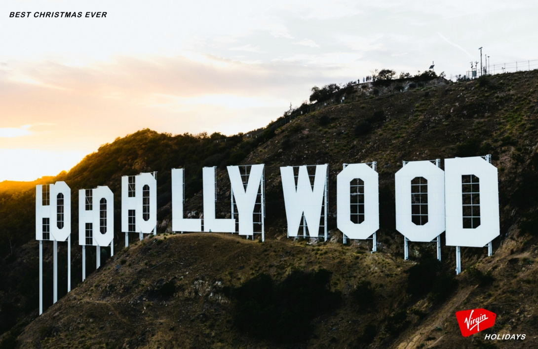 Advertising idea for a travel brand - Ho Ho Hollywood