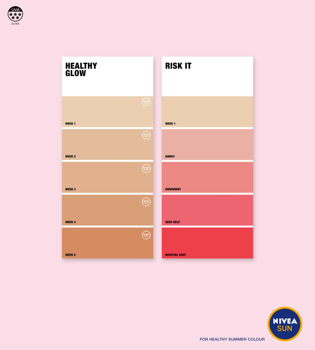 Advertising concept for a suntan lotion brand - healthy colours